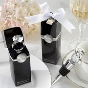 With This Ring Chrome Diamond Ring Bottle Stopper