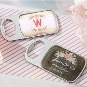 Rustic Bride Personalized Bottle Opener