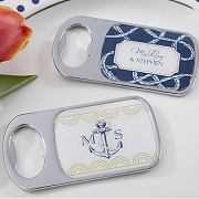 Nautical Wedding Personalized Silver Bottle Opener