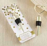 Heart of Gold Bottle Stopper