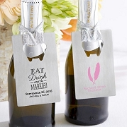 Silver Credit Card Bottle Opener with Personalized Wedding and Bridal Designs