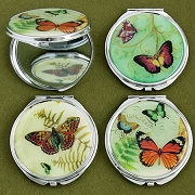 Butterfly Design Mirror Compacts - Wholesale Lot