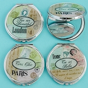 Travel Design Mirror Compacts - Wholesale Lot
