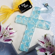 Murano Glass Collection Hanging Blue Cross