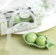 Two Peas in a Pod Salt and Pepper Shaker Set