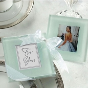 Forever Photo Frosted Glass Coasters (set of 2)