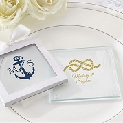 Personalized Glass Coasters - Nautical (set of 12)
