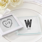 Personalized Glass Coasters - Rustic (set of 12)