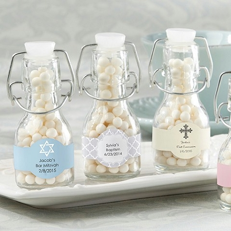 Personalized Mini Glass Bottles Wedding Favors Bridal