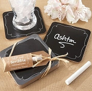 Sip and Scribble Chalkboard Coasters (set of 4)