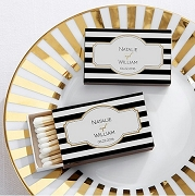 Personalized Classic Design Matchbox Wedding Favors (set of 50)
