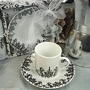 Damask Design Espresso Coffee Set