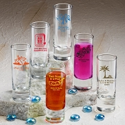 Personalized Tall Shooter Glass Favors (2 oz)