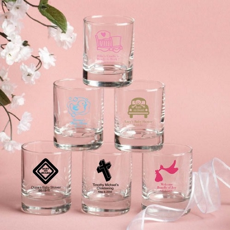 personalized favors personalized baby personalized shot glasses