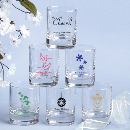 custom shot glasses and votive candle holders wedding and bridal