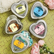 Personalized Heart Shaped Mint Tins