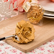 Ornate Matte Gold Rose Compact Mirror