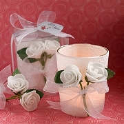 White Rose Votive Candle