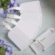 Perfectly Plain Luggage Tag Favors