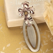 Murano Style Gold and Brown Cross Bookmark