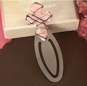 Pink and Brown Cross Bookmark