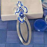 Blue And White Cross Bookmark