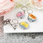 Personalized Compact Mirror/Key Chain