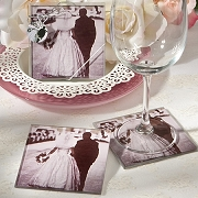 Vintage Wedding Coasters Set of 2