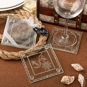 Nautical Glass Coasters (set of 2)