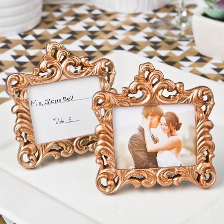 rose gold baroque style frame favor. Black Bedroom Furniture Sets. Home Design Ideas