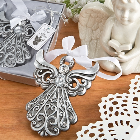 Silver Angel Ornament Religious Favors