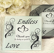 Endless Love Glass Coaster (set of 2)