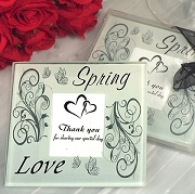 Spring Love Photo Coaster (set of 2)