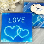 Love is in the Air Glass Coaster (set of 2)