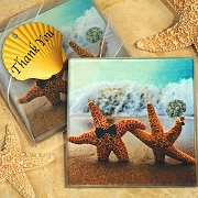 A Perfect Pair Beach Theme Coaster (set of 2)