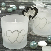 Two Hearts Silver Votive Candles