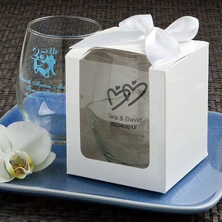 stemless wine glass wedding bridal shower engagement party