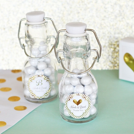 Personalized Mini Glass Bottle Wedding Favors