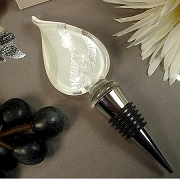 White Shimmer Murano Design Wine Stopper