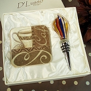 Coffee Design Murano Style Gift Set