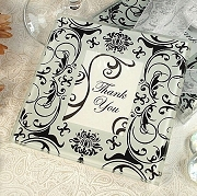 Black and White Damask Photo Coaster (set of 2)