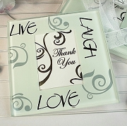 Live Laugh Love Photo Coaster (set of 2)