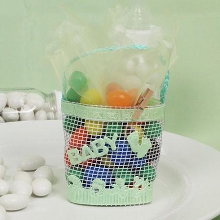 ideas baby shower favors mint green baby shower basket of beauty