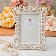 Antique Ivory Photo Frame with Brushed Gold Leaf