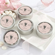 Cameo Personalized Silver Mint Tins (set of 12)