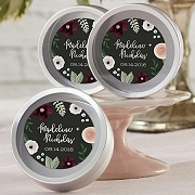 Romantic Garden Floral Personalized Mint Tins (set of 12)
