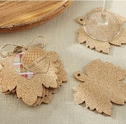 Leaf Cork Coasters (set of 4)