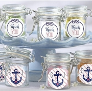 Hinged Glass Jar (set of 12) - Nautical Bride Stickers