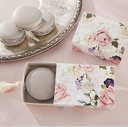 English Garden Floral Slide Favor Box With Tassel (Set of 24)