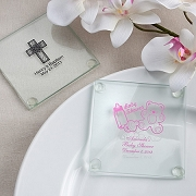 Personalized Glass Coaster Baby Shower Favors